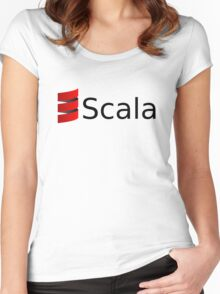 scala programming language Women's Fitted Scoop T-Shirt