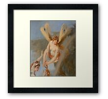 HAIRDRESSER, Angel with wings, Cutting Hair, Angelic, Hairdresser Framed Print