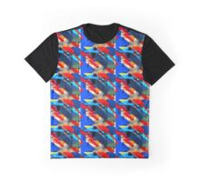 Red, White and Blue Abstract Graphic T-Shirt