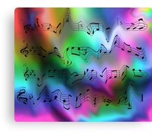 Crazy Notes Canvas Print