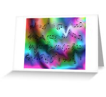 Crazy Notes Greeting Card