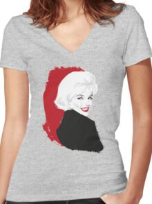 Blonde Test Women's Fitted V-Neck T-Shirt