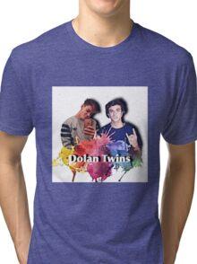 Dolan twins- rainbow paint splat, cartoon Tri-blend T-Shirt