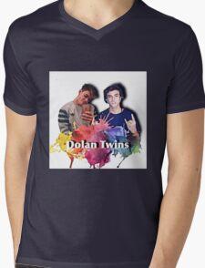 Dolan twins- rainbow paint splat, cartoon Mens V-Neck T-Shirt