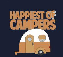 Happiest of Campers Retro themed Orange Camper Kids Tee