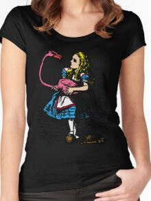 Flamingo Croquet Women's Fitted Scoop T-Shirt