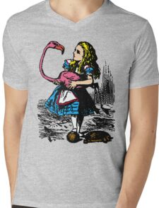 Flamingo Croquet Mens V-Neck T-Shirt