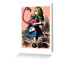 Flamingo Croquet Greeting Card