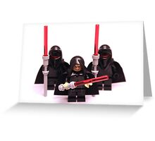 Lego Star Wars Emperor & Shadow Guards March Minifigure Greeting Card