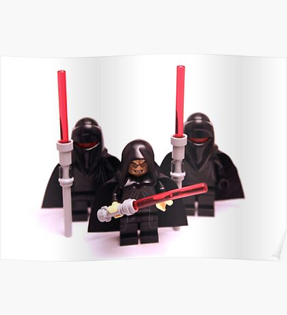 Lego Star Wars Emperor & Shadow Guards March Minifigure Poster