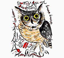 Spotted Eagle Owl, Bubo africanus, Gevlekte Ooruil Unisex T-Shirt