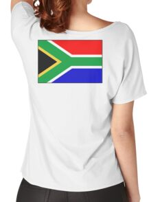 South Africa, South African Flag, Flag of the Republic of South Africa, Africa, African Women's Relaxed Fit T-Shirt