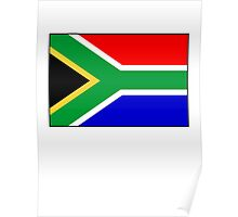 South Africa, South African Flag, Flag of the Republic of South Africa, Africa, African Poster