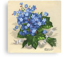 Forget-me-not - acrylic Canvas Print