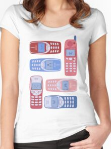 Vintage Cellphone Reactions Women's Fitted Scoop T-Shirt