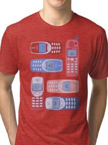Vintage Cellphone Reactions Tri-blend T-Shirt