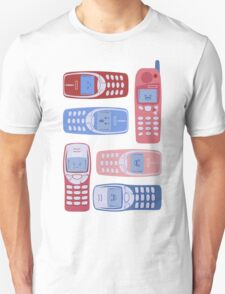 Vintage Cellphone Reactions Unisex T-Shirt