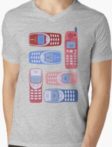 Vintage Cellphone Reactions Mens V-Neck T-Shirt