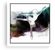 Colors of Dance, Ballerina Art Canvas Print