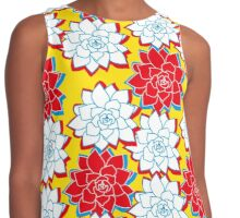 Tropical Flowers Contrast Tank