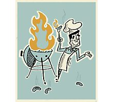 Grill Master Photographic Print