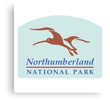 Northumberland National Park Sign, England, UK Canvas Print