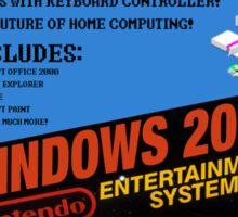 Windows 2000 NES Box Sticker