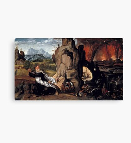 Giovanni Girolamo Savoldo, active -after Torment of St. Anthony, ca.  Canvas Print