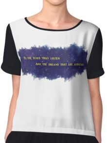 To The Stars That Listen (Gold) - A Court of Mist and Fury Chiffon Top