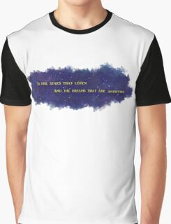 To The Stars That Listen (Gold) - A Court of Mist and Fury Graphic T-Shirt