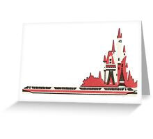 Monorail Castle Greeting Card