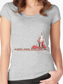 Monorail Castle Women's Fitted Scoop T-Shirt