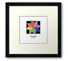 Pinwheel Designs Logo Framed Print
