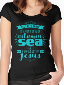 NEED VITAMIN SEA Women's Fitted Scoop T-Shirt