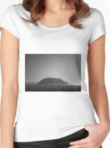 Point Sur I BW Women's Fitted Scoop T-Shirt
