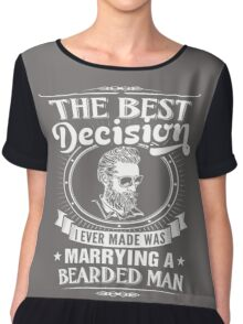 MARRYING A BEARDED MAN Chiffon Top