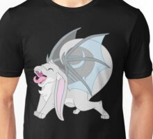 Happy yawning bunny dragon white Unisex T-Shirt