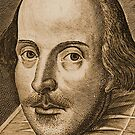 Shakespeare Droeshout Engraving Portrait by Sally McLean