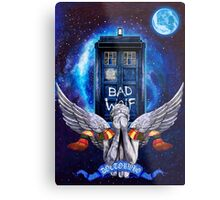 The Angel with time travel Box Metal Print