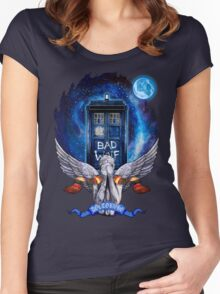 The Angel with time travel Box Women's Fitted Scoop T-Shirt