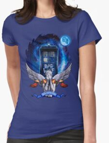 The Angel with time travel Box Womens Fitted T-Shirt