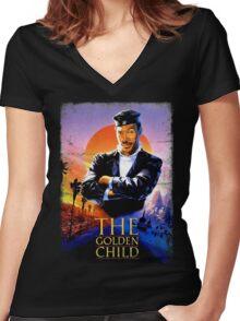 The Golden Child Women's Fitted V-Neck T-Shirt