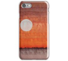 Moon over Mojave original painting iPhone Case/Skin