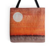 Moon over Mojave original painting Tote Bag