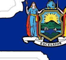 New york flag New York state outline Sticker