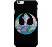 Watercolor Rebel Alliance (black) iPhone Case/Skin