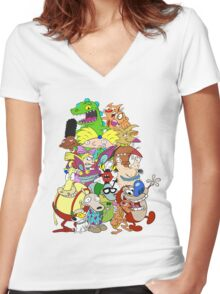 Nick Friends! Women's Fitted V-Neck T-Shirt
