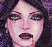 Gothic victorian vampire woman by Renee Lavoie Sticker