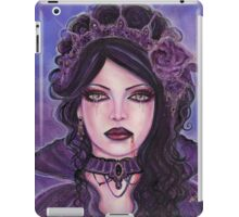 Gothic victorian vampire woman by Renee Lavoie iPad Case/Skin