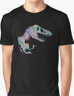 Watercolor Jurassic (black) Graphic T-Shirt